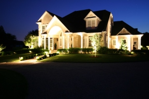 create night time scenes and control outdoor lighting with an inside controller