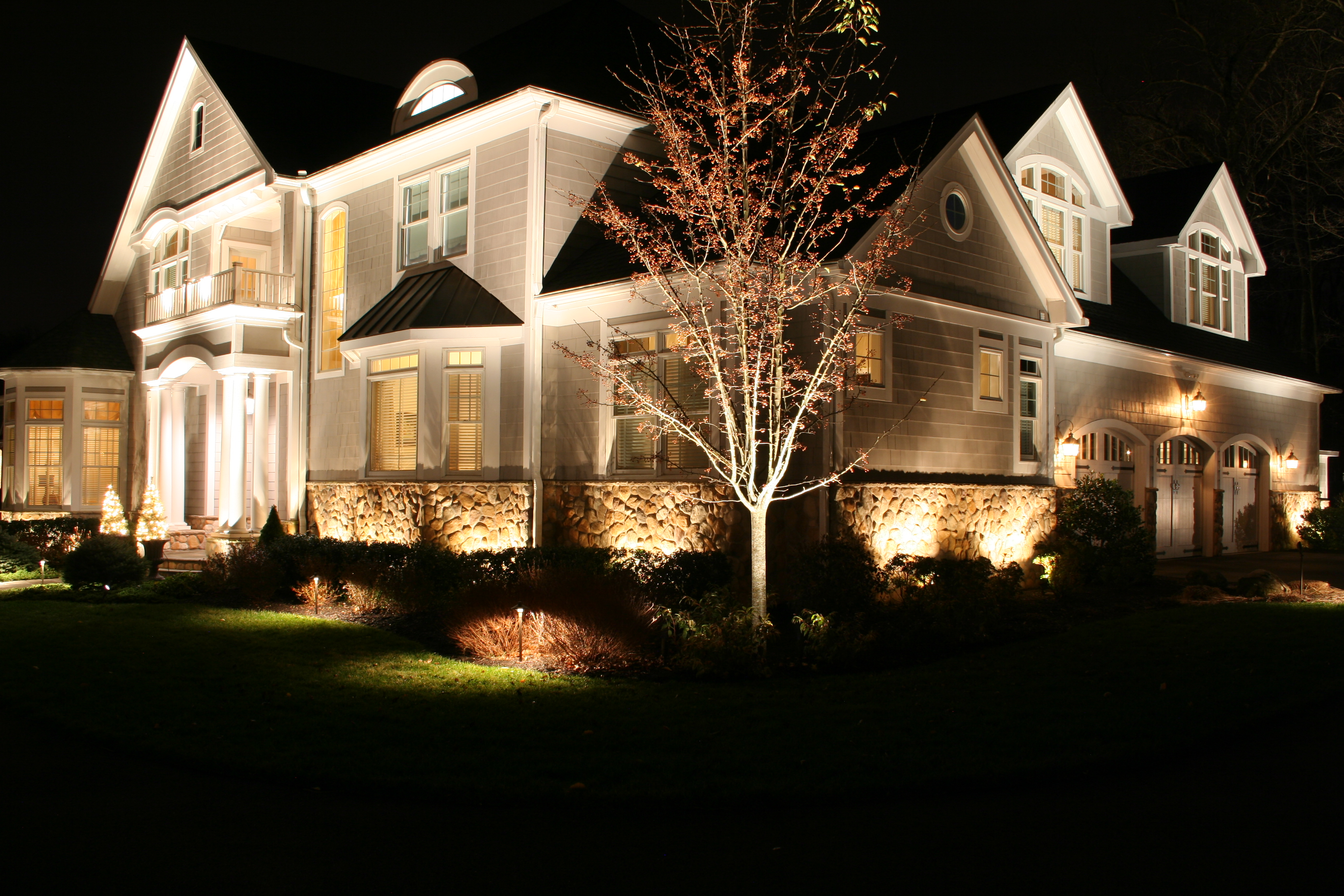 Landscape lighting designer michael gotowala shows us a night time our lighting approach is coupled with an evaluation of the landscape and many times we add elements islands focal plants and trees to create depth in the mozeypictures Image collections