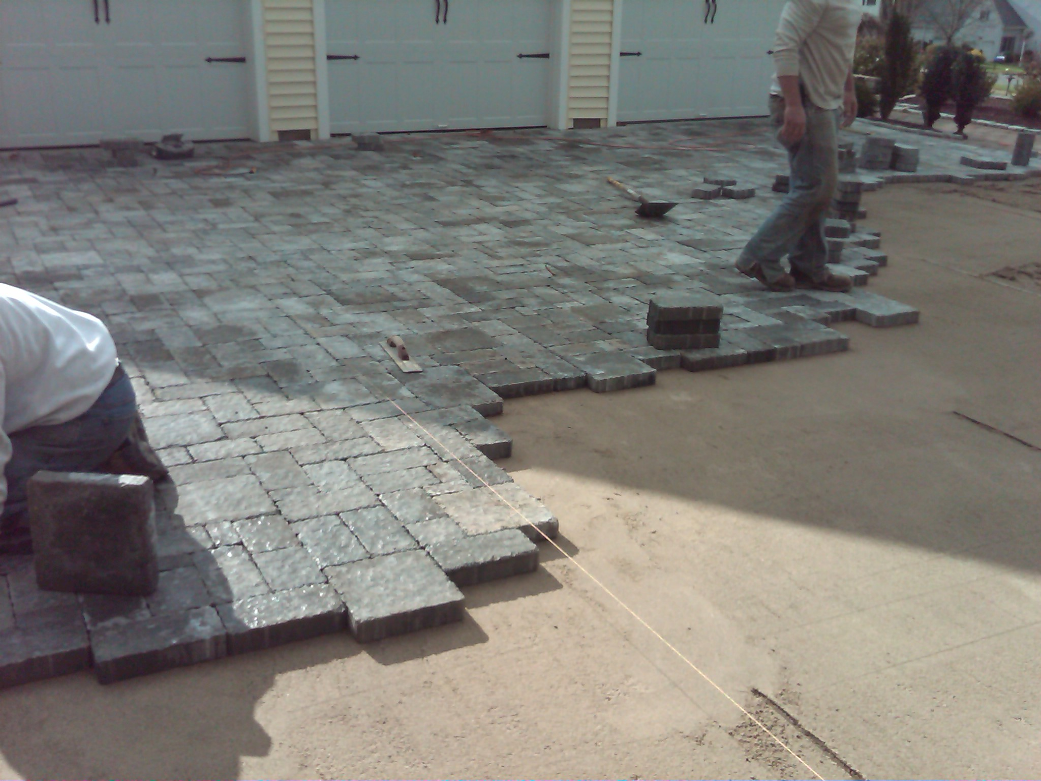 Preferred Properties Landscaping and Masonry installing a