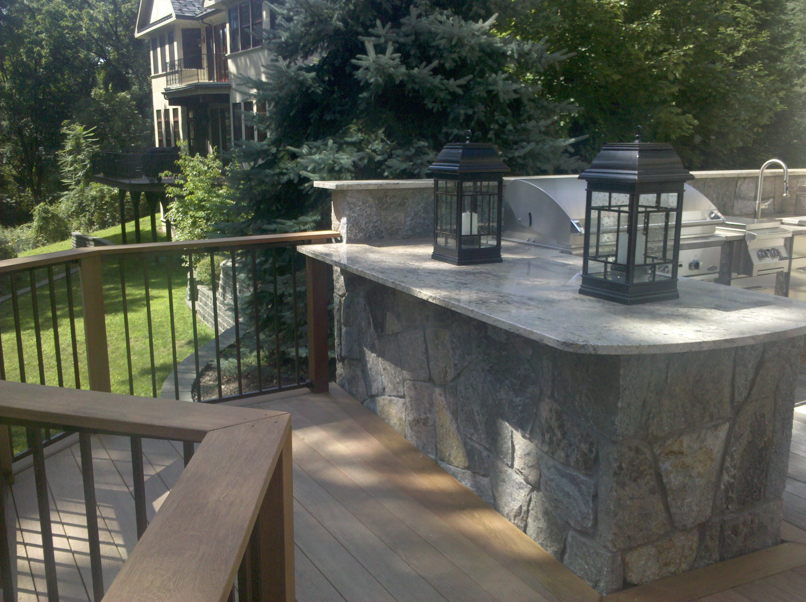 Preferred Properties Landscaping Builds This Outdoor Kitchen On The Second Floor Elevated