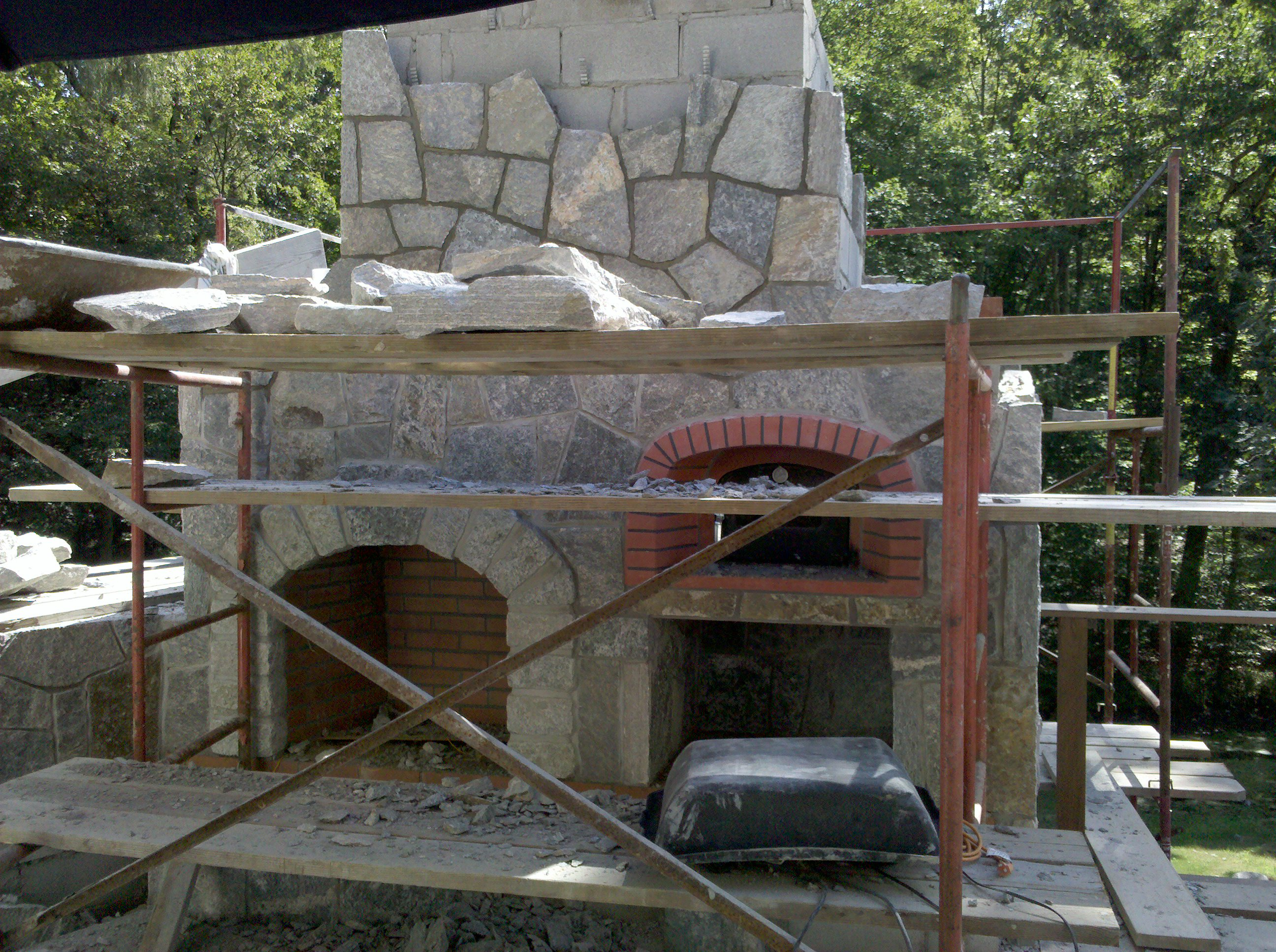 charming fireplace image awesome combo brick with and ideas outdoor pizza make stone oven of plans