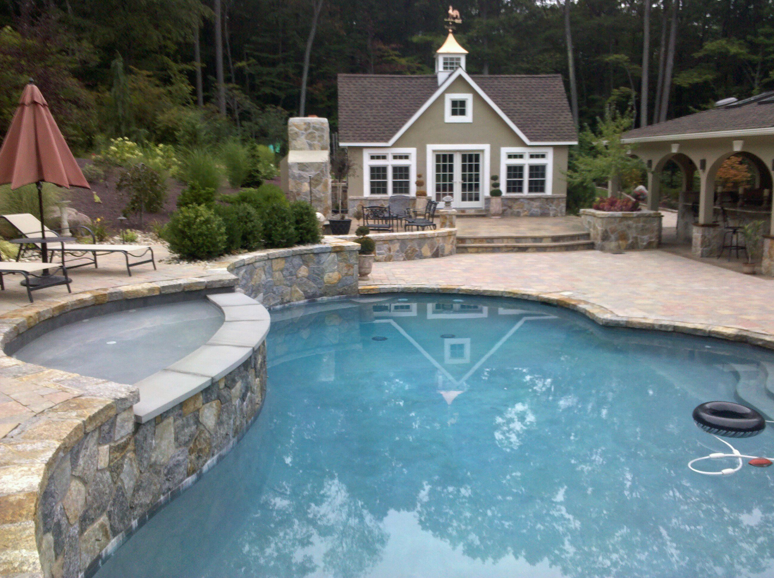 Preferred Properties Installs This Oasis Shaped Fiberglass