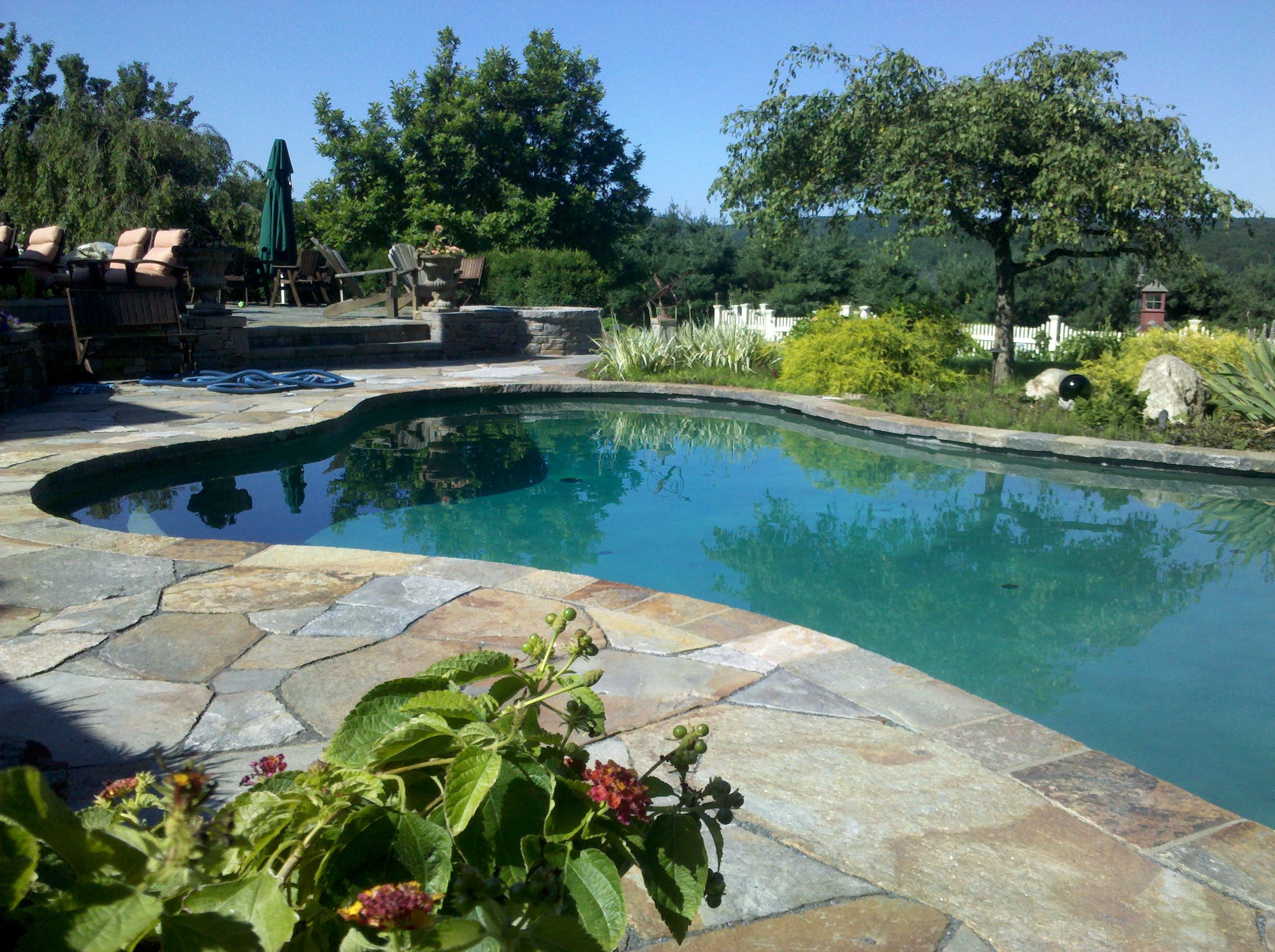 Natural Stone Pool Deck Stone Masonry Repair Needed On This Pool Deck And Patiomasonry