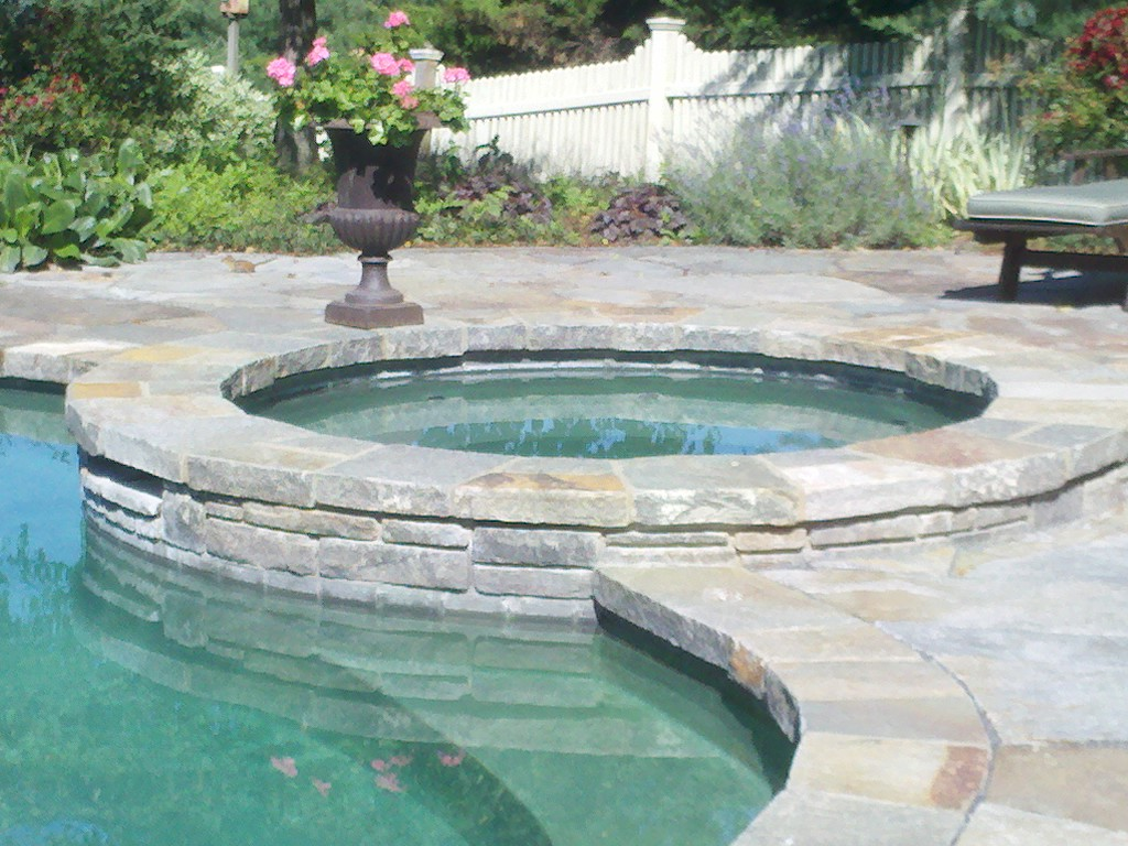 Stone Masonry Repair Needed On This Pool Deck And Patio Masonry Sealing And Stone Setting By