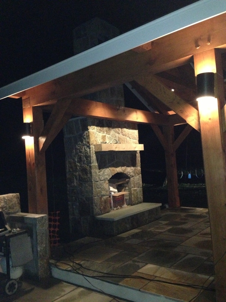 Outdoor Living Designer Initiates 3 Season Post N Beam Room With Outdoor Kitchen Pavilion With