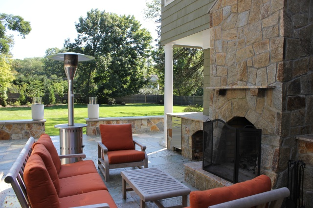 This outdoor fireplace is right off the indoor living room and accessible by the master for endless hours spent outdoors watching the mesemerizing flames of this tremendous outdoor fireplace
