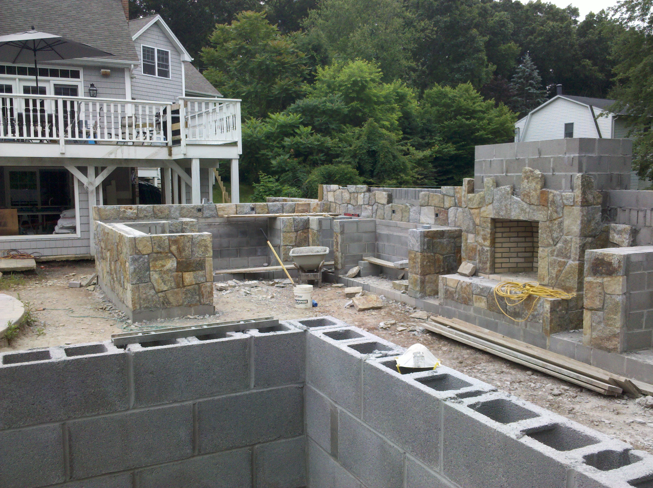 outdoor living a preferred lifestyle seen under construction