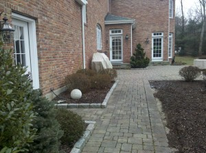 Outdoor living project before the upscale project begins