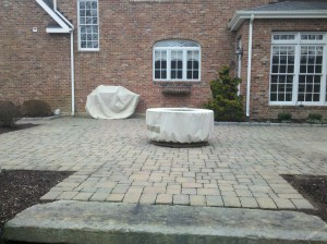 Patio redo to celebrate the family time spent outdoors  before Pic