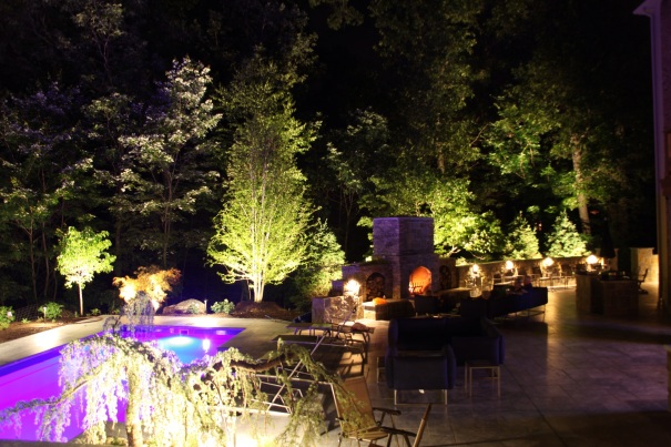 Outdoor lighting designer Michael Gotowala Preferred Properties
