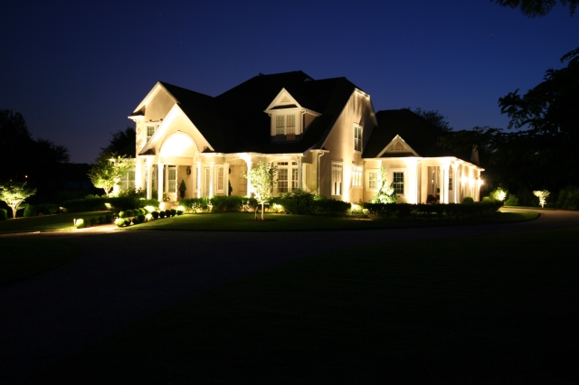 Landscape lighting in Connecticut